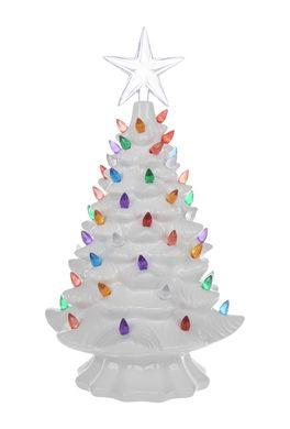 Vintage Style White Light Up Ceramic Christmas Tree