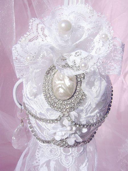 Shabby White, Vintage Bejeweled Kissing Ball