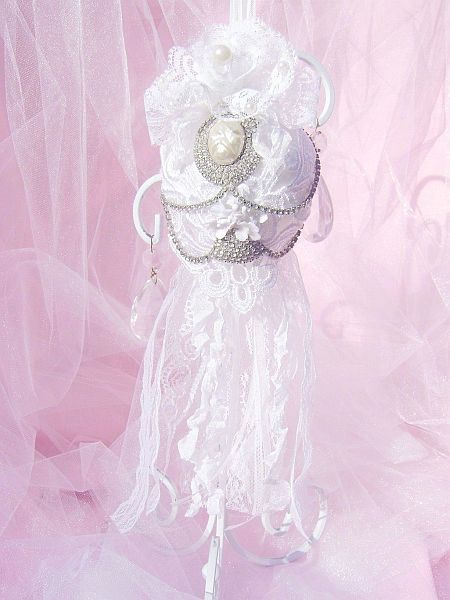 Shabby White, Vintage Bejeweled Kissing Ball
