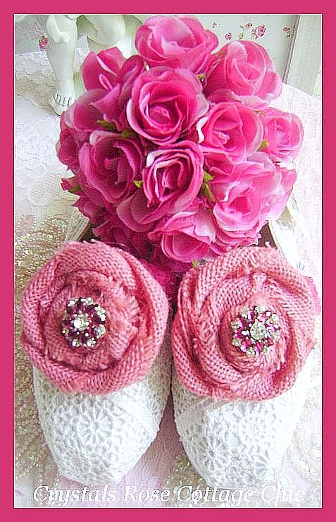 Rustic Country Bridal Toms Pink Burlap Roses and Rhinestones