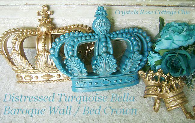 Distressed Turquoise Bella Baroque Crown