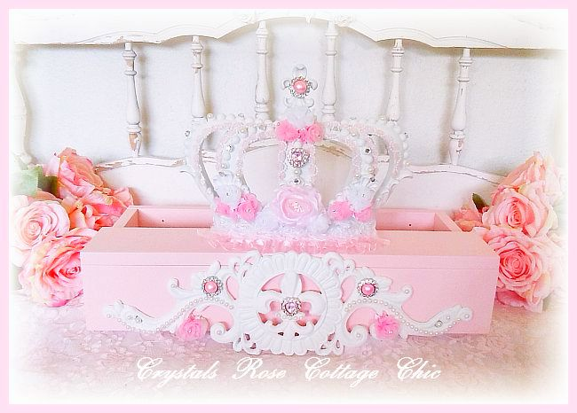 Pink Princess Fleur de Lis Bed Crown Teester Canopy..color choices
