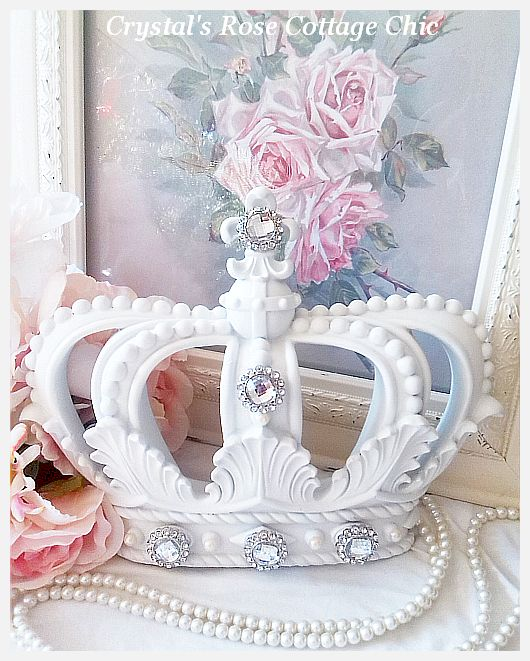 White Fleur de Lis Crown..Embellishment Choices