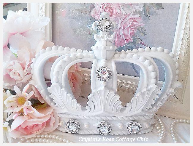 White Fleur de Lis Crown..Embellishment Choices