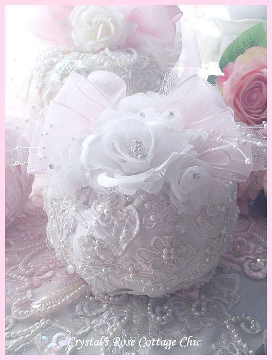 White Bridal  Lace Pumpkin