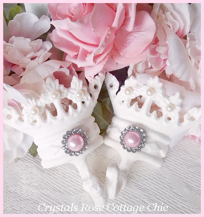 White Princess Crown Hook with Pearls...Color Choices