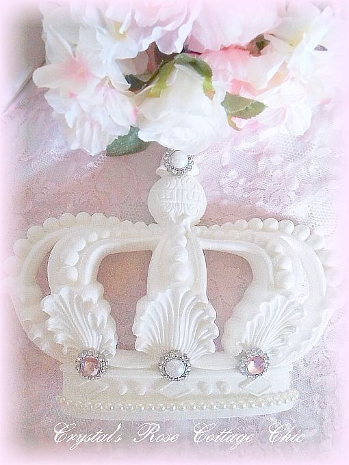 Embellished Shabby Cottage Chic Crown ...Color Choices