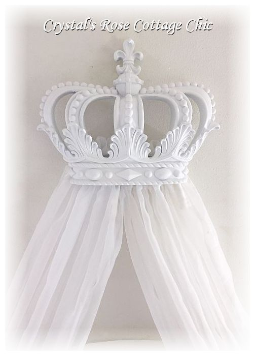 Fleur de Lis Bed Crown and Canopy Sheers...Color Options