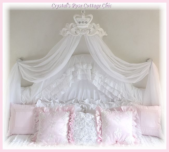 La Fleur Curved Bed Crown Canopy... Color Choices