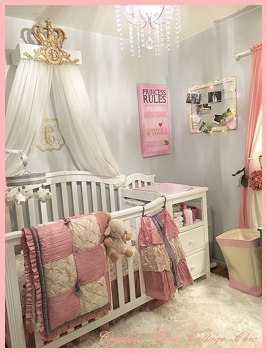 White & Gold Bed Crown Canopy Teester