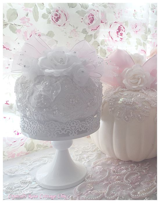 White Bridal  Lace Pumpkin