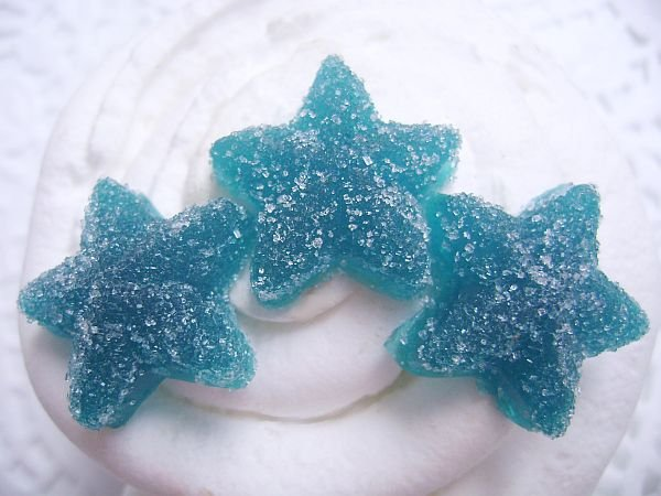 Berry Blue Sugared Star Gummy Candy