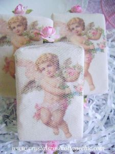 Vintage Cherub Decorative Soap