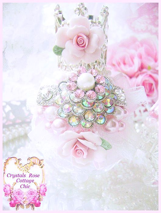 Glamour Chic Rose Crown Perfume Bottle