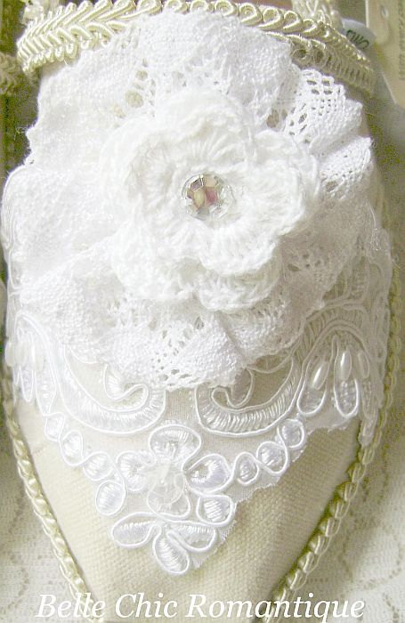 Crochet Flower, Lace and Rhinestone Toms