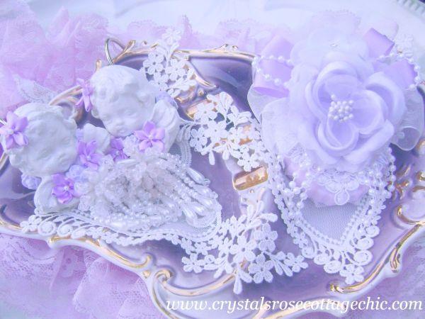 Lavender Rose Embellished Soap