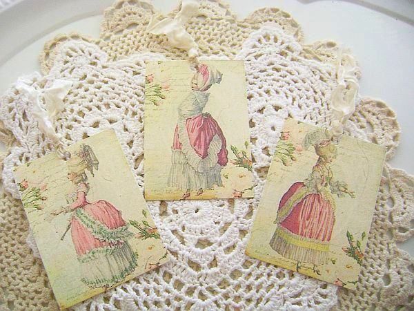 French Charm Marie Antoinette Tags