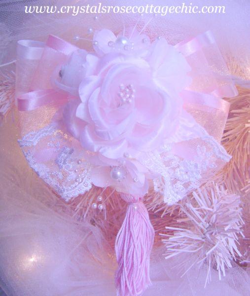 Pink Victorian Romance Tassel Ornament