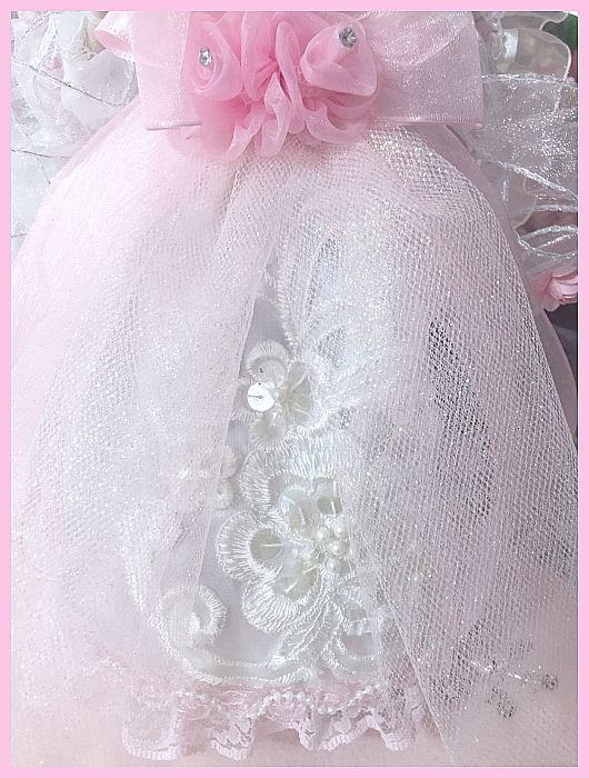Shabby Chic Pink Rose Princess Light Up Angel Topper....RESTOCKED
