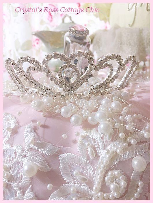 Shabby Chic Pink Princess Pumpkin