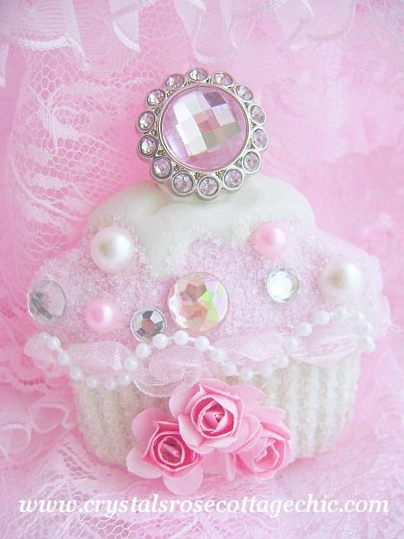 Bejeweled Cupcake Ornament