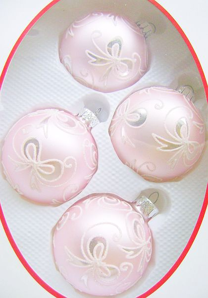 Pretty Pink Glass Ornament Balls