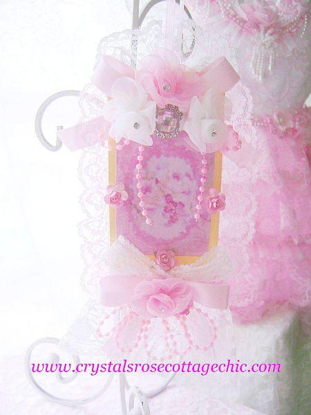 Pink Rose Tag
