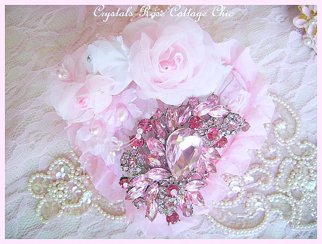 Pink Crystal Decadence Heart