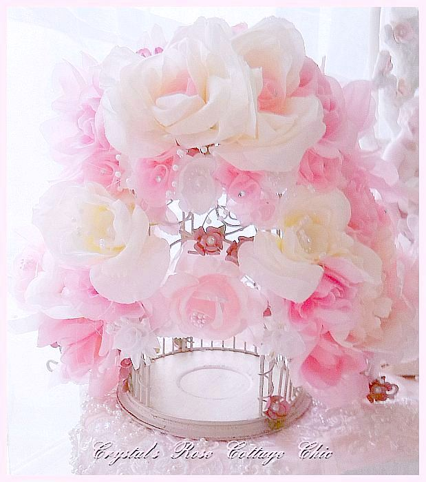 Shabby Rose Bird Cage