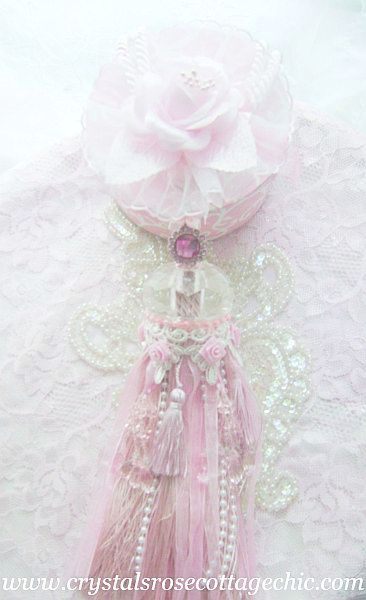 Romantic Pink Rose Tassel