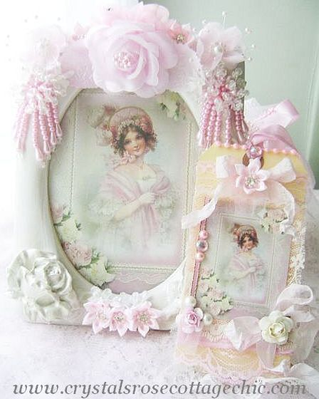 La Belle Victorian Girl in Pink Frame