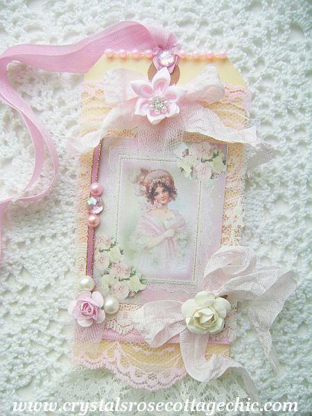 La Belle Victorian Girl in Pink Tag