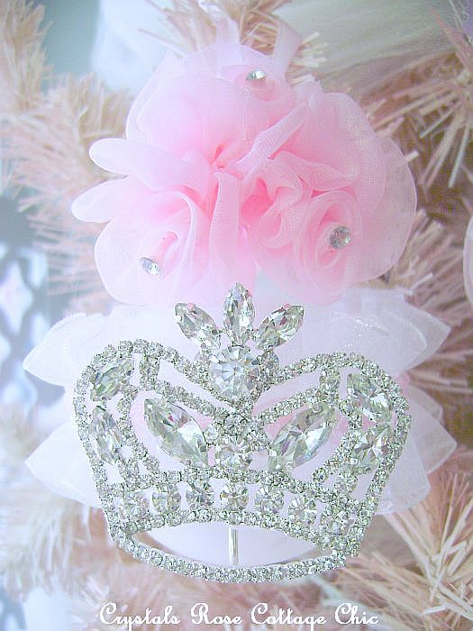 Pink Princess Crown Ornament