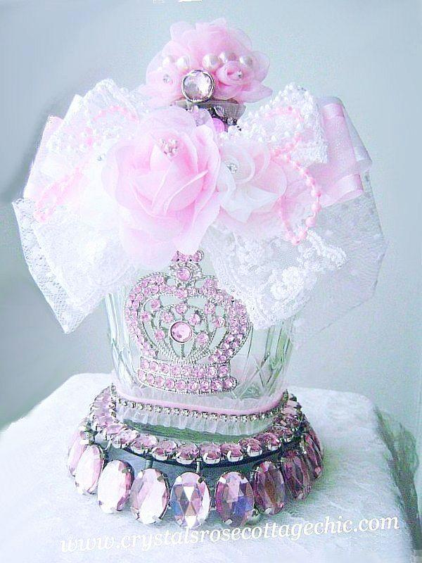 Repurposed Pink Crown Bottle