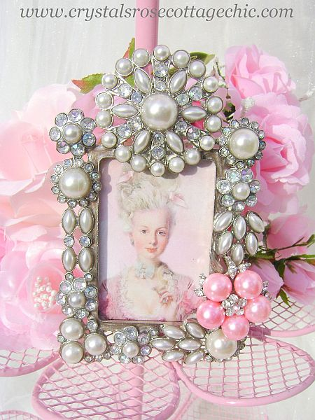 French Romance, Stunning Table Top Decor, Bejeweled Marie