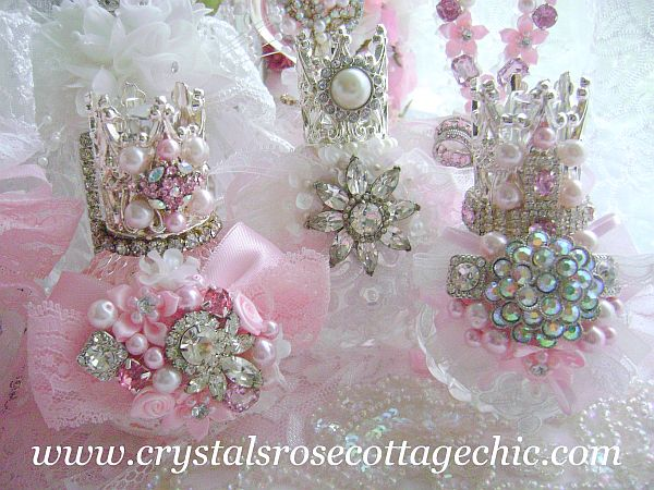 Pink Decadence Crown Perfume Bottle