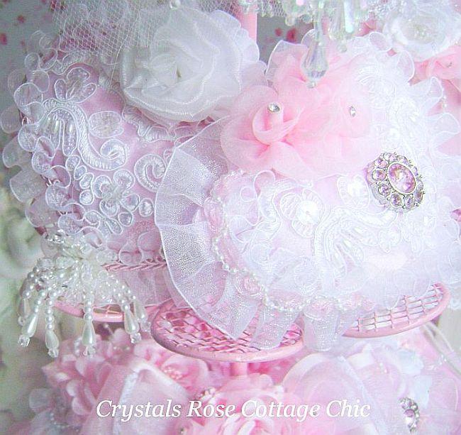 Pink Rhinestone Romantic Heart Sachet