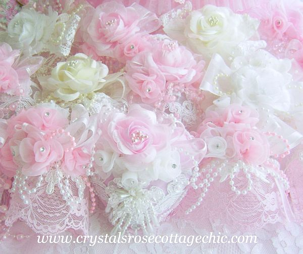 Romantique Victorian Rose Ornaments