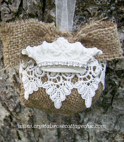 Rustic French Country Crown Ornament