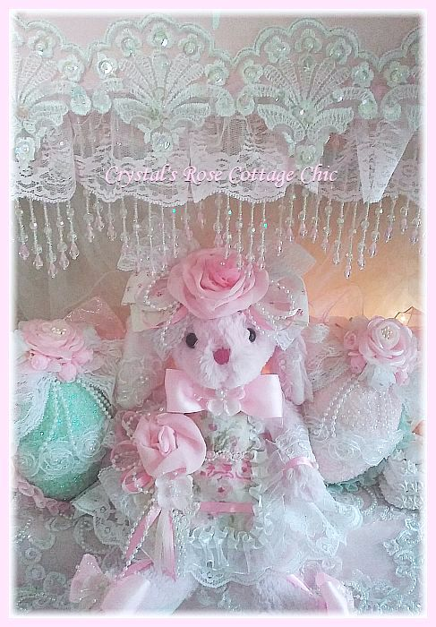 Sweet Pink Shabby Chic Bunny