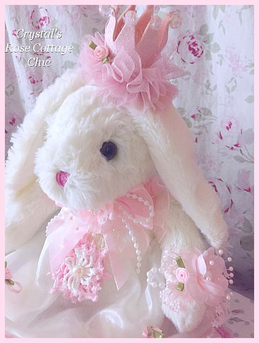 Pink & White Princess Bunny