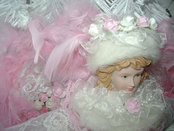 Romantic Pink Rose Angel Size Large