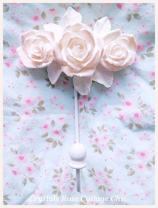 Shabby Rose Hook...Color Choices