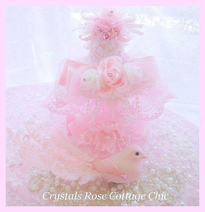 Elegant Pink Egg Holder and Shabby Lace Egg