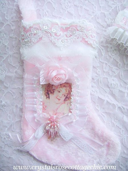 Sweet Pink Vintage Girl Stocking