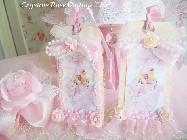 Set of Shabby Chic Easter Tags