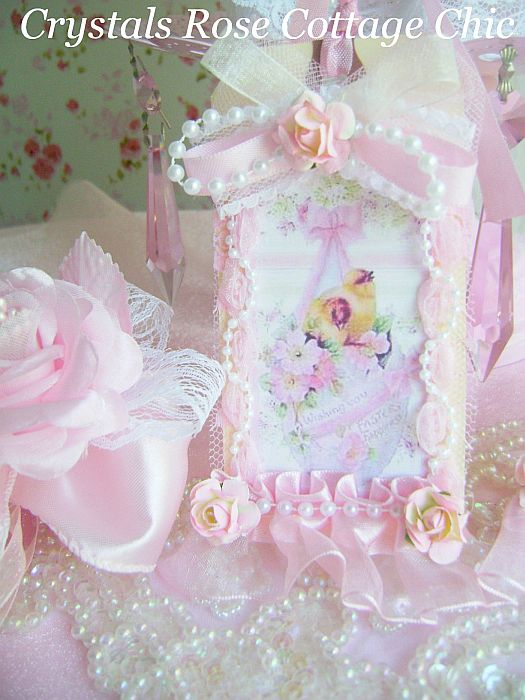 Shabby Pink Chic Easter Tag