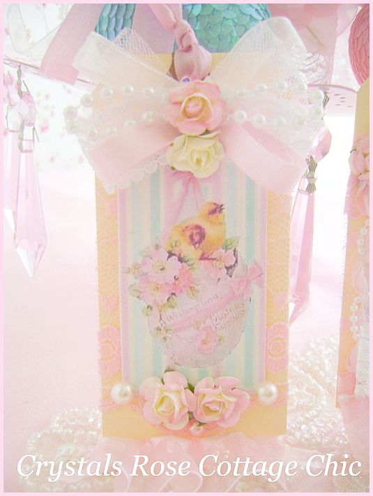 Shabby Chic Set of Vintage Easter Tags