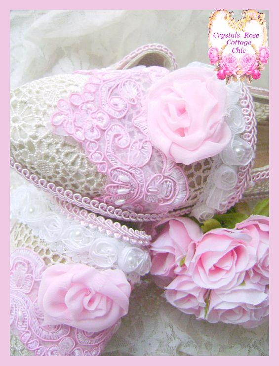 Shabby Chic Pink Princess Rose Couture Toms