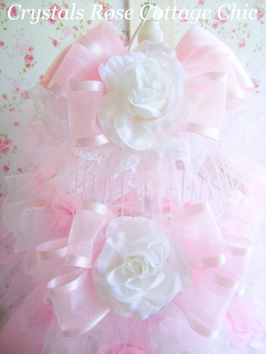 Bird Cage Tutu Crown Shabby Pink